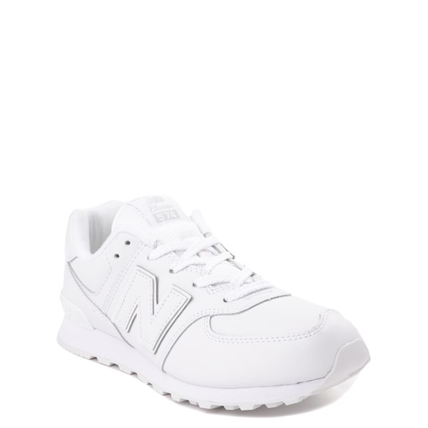 alternate view New Balance 574 Athletic Shoe - Big Kid - White MonochromeALT1