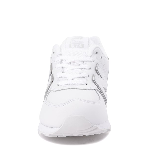 alternate view New Balance 574 Athletic Shoe - Big Kid - White MonochromeALT4