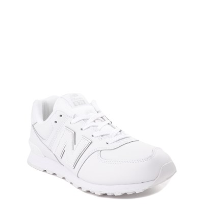Alternate view of New Balance 574 Athletic Shoe - Big Kid - White Monochrome