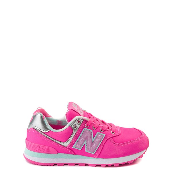 New Balance 574 Athletic Shoe - Little Kid - Pink / Silver