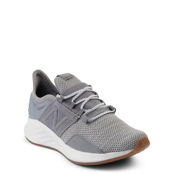 alternate view New Balance Fresh Foam Roav Athletic Shoe - Big Kid - Gray / WhiteALT1