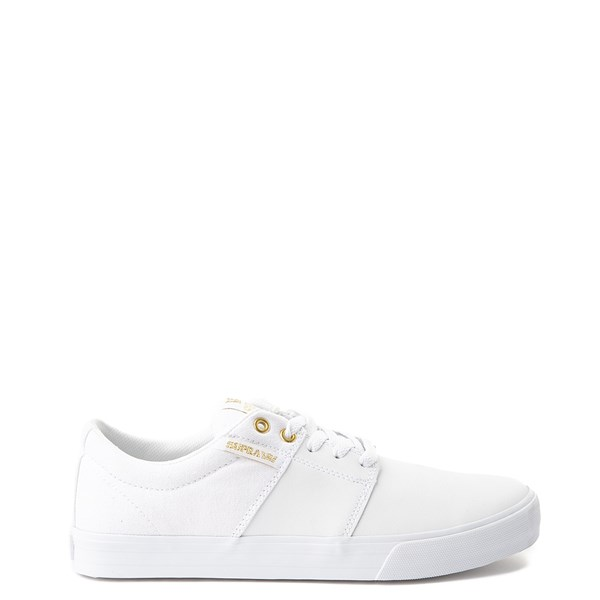 Mens Supra Stacks II Vulc Skate Shoe - White
