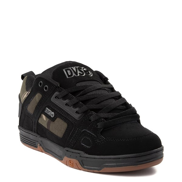 alternate view Mens DVS Comanche Skate Shoe - Black / CamoALT1