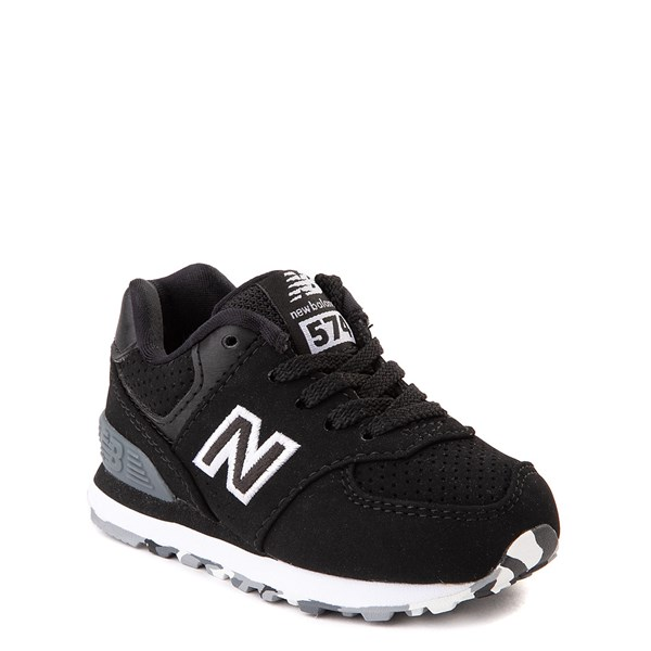 alternate view New Balance 574 Athletic Shoe - Baby / Toddler - Black / WhiteALT1