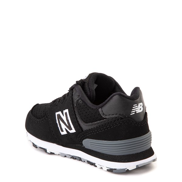 alternate view New Balance 574 Athletic Shoe - Baby / Toddler - Black / WhiteALT2