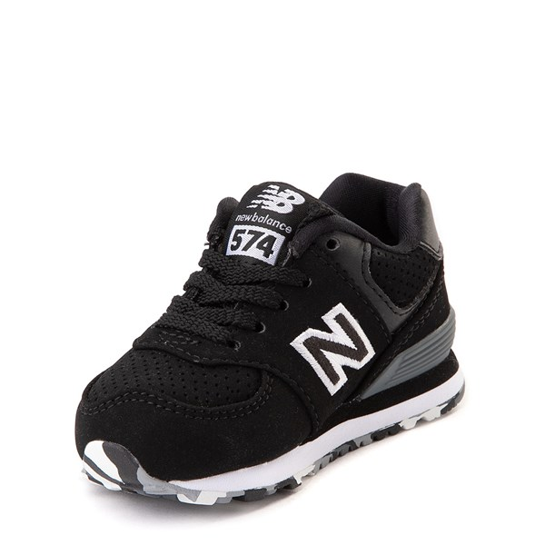 alternate view New Balance 574 Athletic Shoe - Baby / Toddler - Black / WhiteALT3