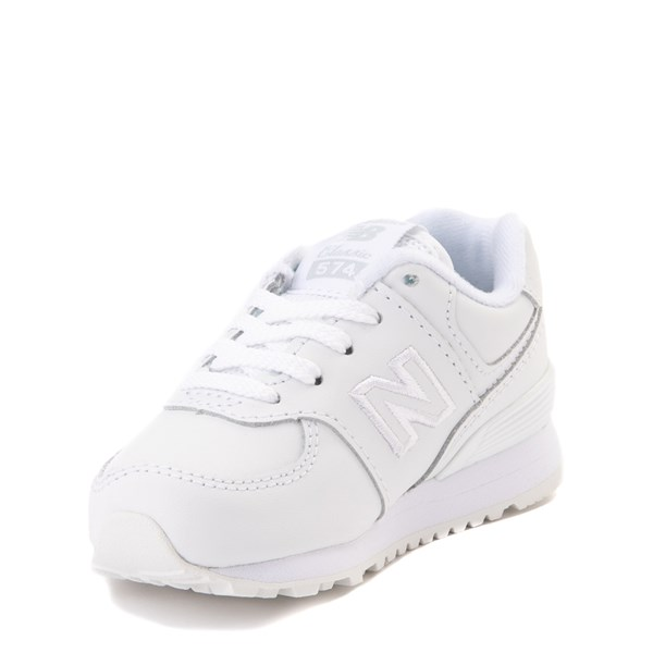 alternate view New Balance 574 Athletic Shoe - Baby / Toddler - WhiteALT3