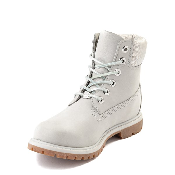 "alternate view Womens Timberland 6"" Metallic Collar Premium Boot - Windchime GrayALT3"