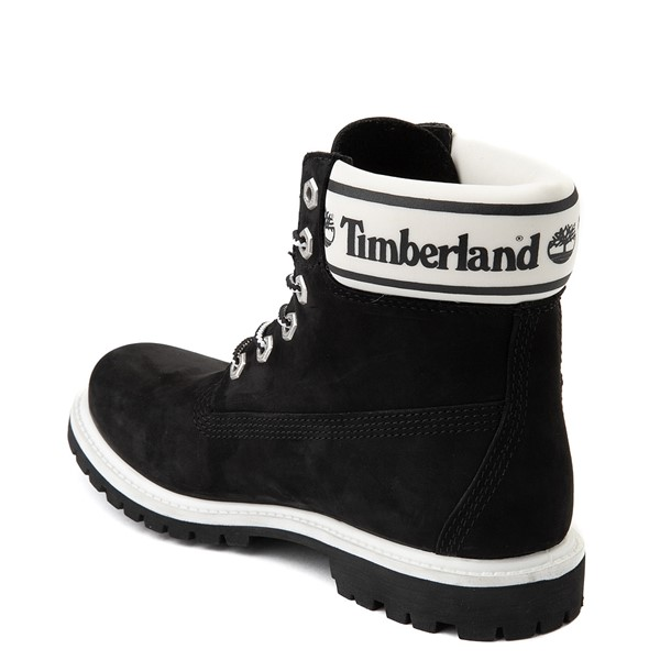 "alternate view Womens Timberland 6"" Premium Boot - Black / WhiteALT1"