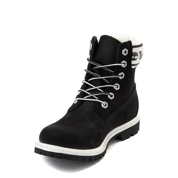 "alternate view Womens Timberland 6"" Premium Boot - Black / WhiteALT2"