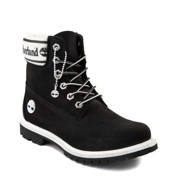 "alternate view Womens Timberland 6"" Premium Boot - Black / WhiteALT5"