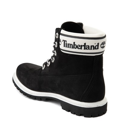 "Alternate view of Womens Timberland 6"" Premium Boot - Black / White"