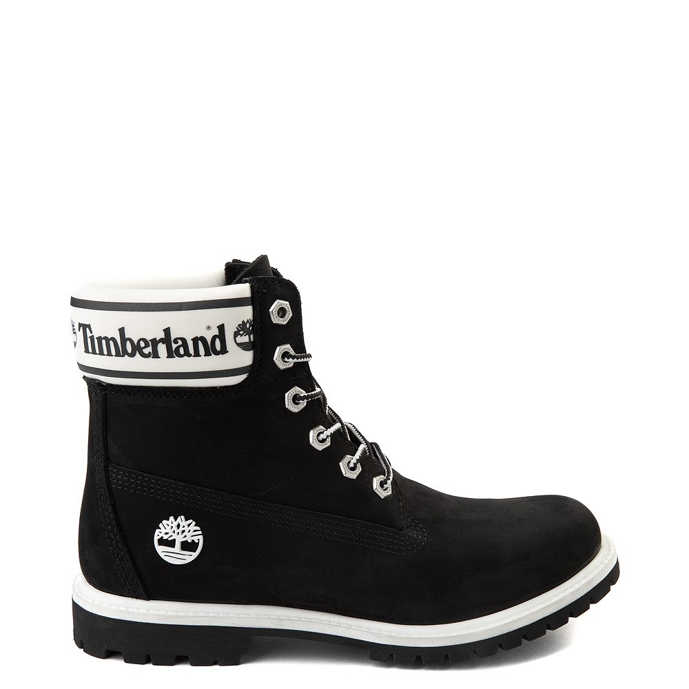 "Womens Timberland 6"" Premium Boot - Black / White"