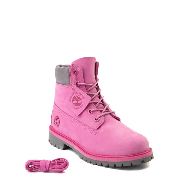 "Alternate view of Timberland 6"" Classic Boot - Big Kid - Ibis Rose / Gray"