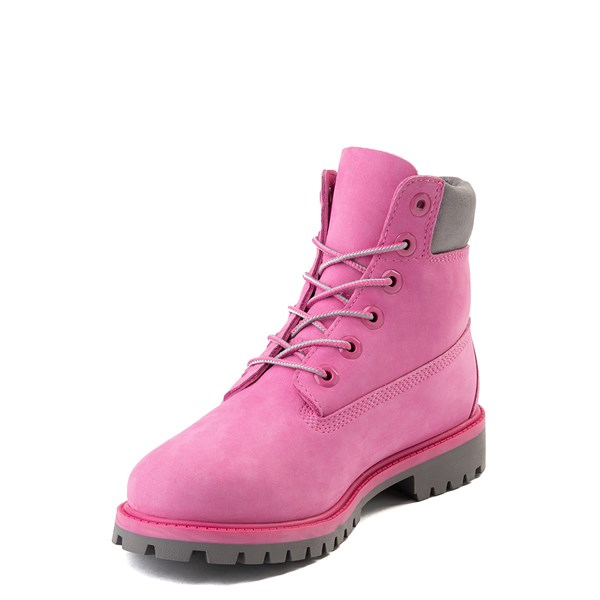 "alternate view Timberland 6"" Classic Boot - Big Kid - Ibis Rose / GrayALT3"