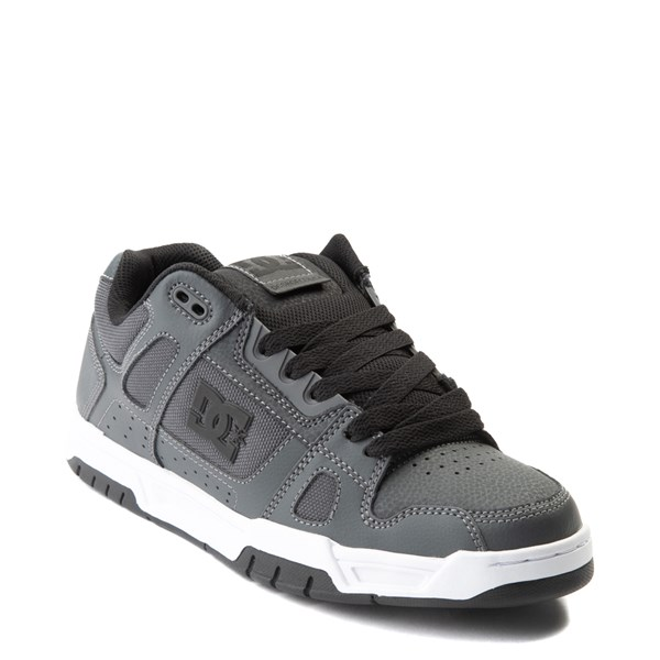 alternate view Mens DC Stag Skate Shoe - Dark GrayALT1