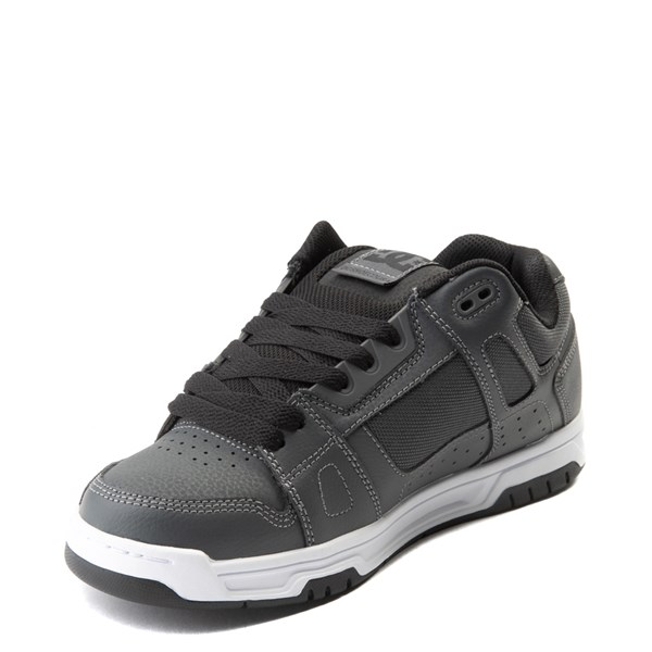 alternate view Mens DC Stag Skate Shoe - Dark GrayALT3