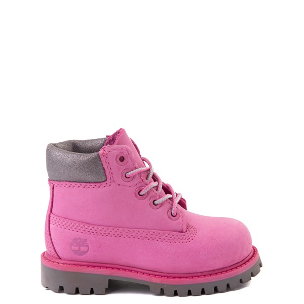 "Default view of Timberland 6"" Classic Boot - Toddler / Little Kid - Ibis Rose / Gray"
