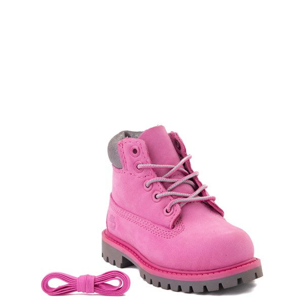 "Alternate view of Timberland 6"" Classic Boot - Toddler / Little Kid - Ibis Rose / Gray"