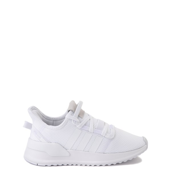 Main view of adidas U_Path Run Athletic Shoe - Little Kid - White Monochrome