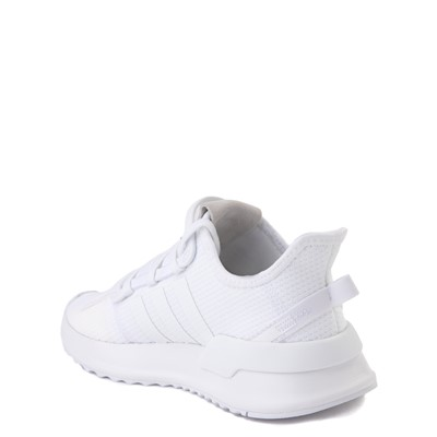 Alternate view of adidas U_Path Run Athletic Shoe - Little Kid - White Monochrome