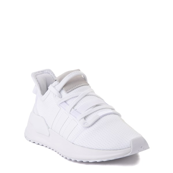 alternate view adidas U_Path Run Athletic Shoe - Big Kid - White MonochromeALT1