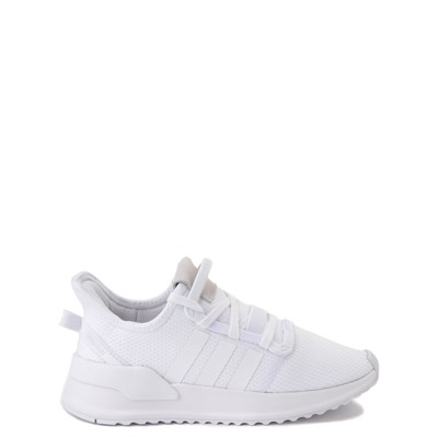 Main view of adidas U_Path Run Athletic Shoe - Big Kid - White Monochrome