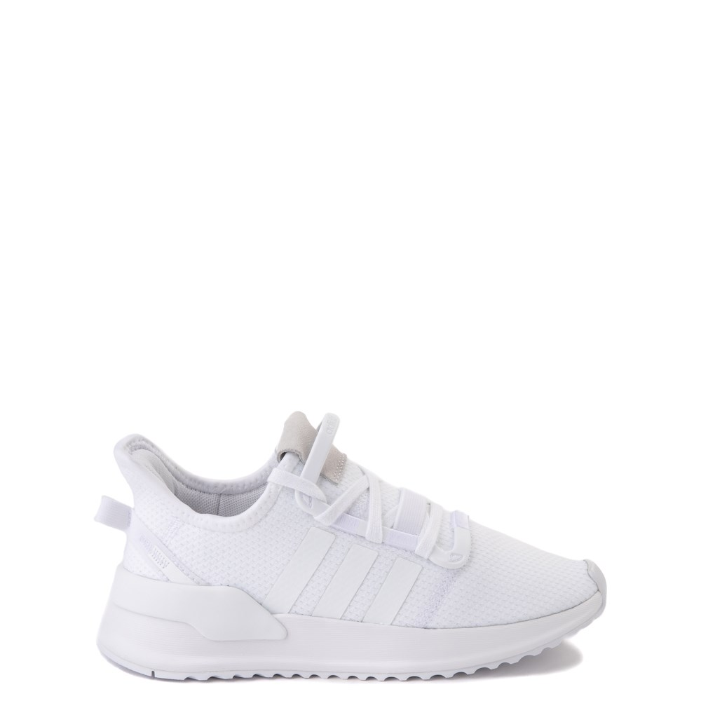 adidas U_Path Run Athletic Shoe - Big Kid - White Monochrome