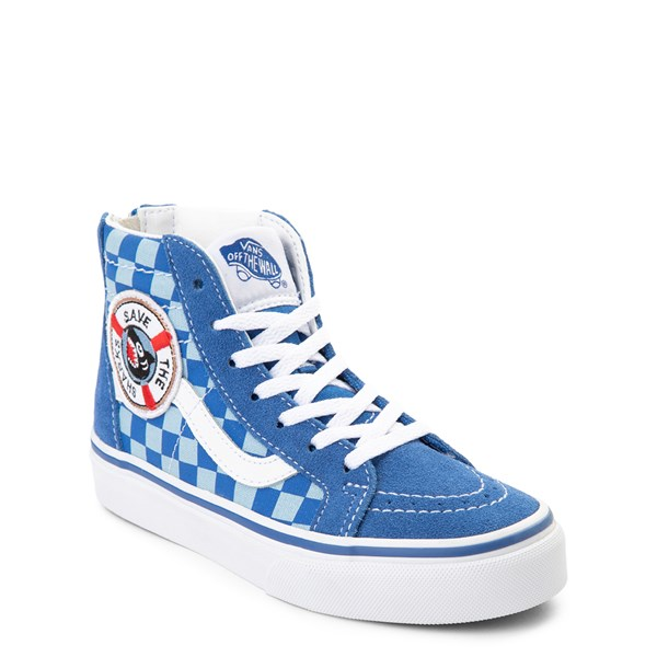 alternate view Vans x Discovery's Shark Week Sk8 Hi Zip Skate Shoe - Little Kid / Big Kid - BlueALT1