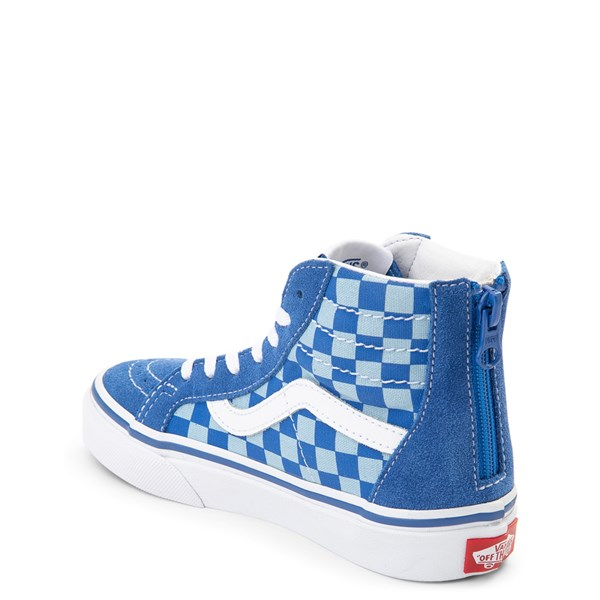 alternate view Vans x Discovery's Shark Week Sk8 Hi Zip Skate Shoe - Little Kid / Big Kid - BlueALT2