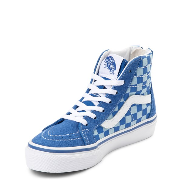 alternate view Vans x Discovery's Shark Week Sk8 Hi Zip Skate Shoe - Little Kid / Big Kid - BlueALT3