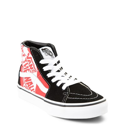 Alternate view of Vans Sk8 Hi Off The Wall Skate Shoe - Little Kid / Big Kid