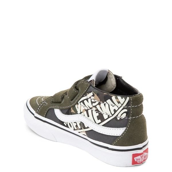 alternate view Vans Sk8 Mid V Off the Wall Skate Shoe - Little Kid / Big KidALT2