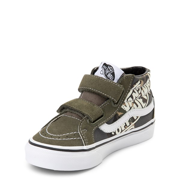 alternate view Vans Sk8 Mid V Off the Wall Skate Shoe - Little Kid / Big KidALT3