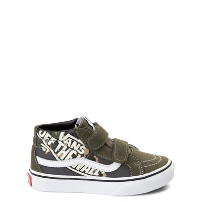 Main view of Vans Sk8 Mid V Off the Wall Skate Shoe - Little Kid / Big Kid