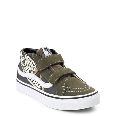 Alternate view of Vans Sk8 Mid V Off the Wall Skate Shoe - Little Kid / Big Kid