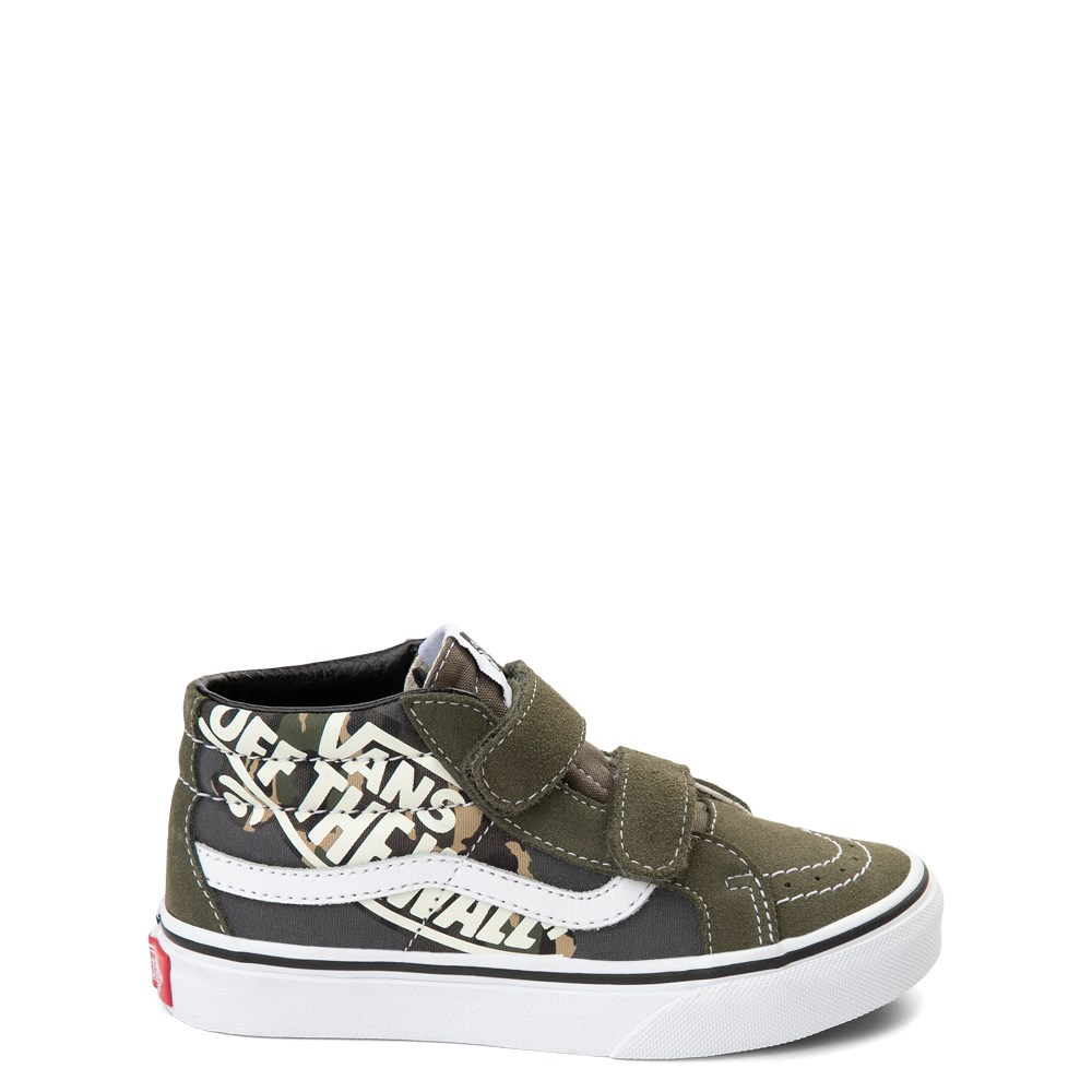 Vans Sk8 Mid V Off the Wall Skate Shoe - Little Kid / Big Kid