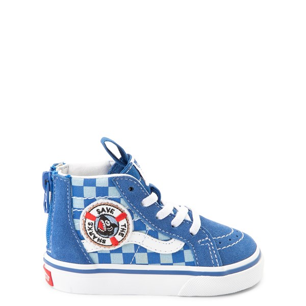 Vans x Discovery's Shark Week Sk8 Hi Zip Skate Shoe - Baby / Toddler - Blue