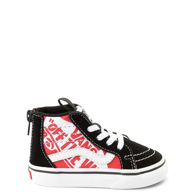 Main view of Vans Sk8 Hi Zip Off The Wall Skate Shoe - Baby / Toddler