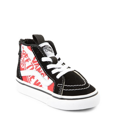 Alternate view of Vans Sk8 Hi Zip Off The Wall Skate Shoe - Baby / Toddler