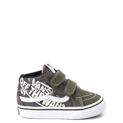 Main view of Vans Sk8 Mid V Off the Wall Skate Shoe - Baby / Toddler