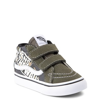 Alternate view of Vans Sk8 Mid V Off the Wall Skate Shoe - Baby / Toddler