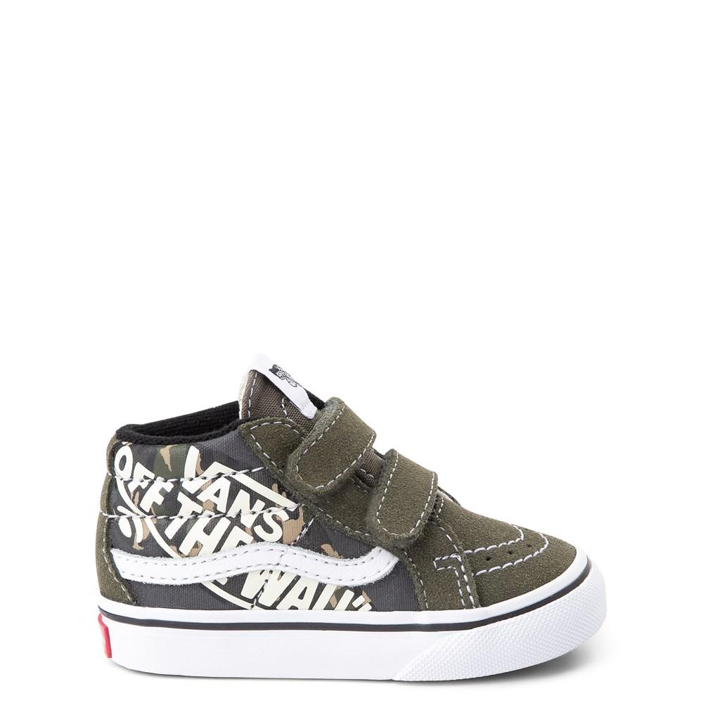 Vans Sk8 Mid V Off the Wall Skate Shoe - Baby / Toddler - Olive / Camo