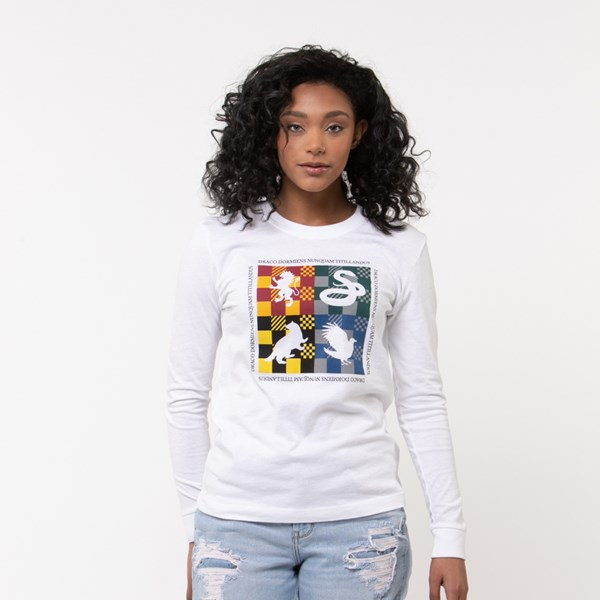 Womens Vans x Harry Potter Four Houses Long Sleeve Boyfriend Tee - White