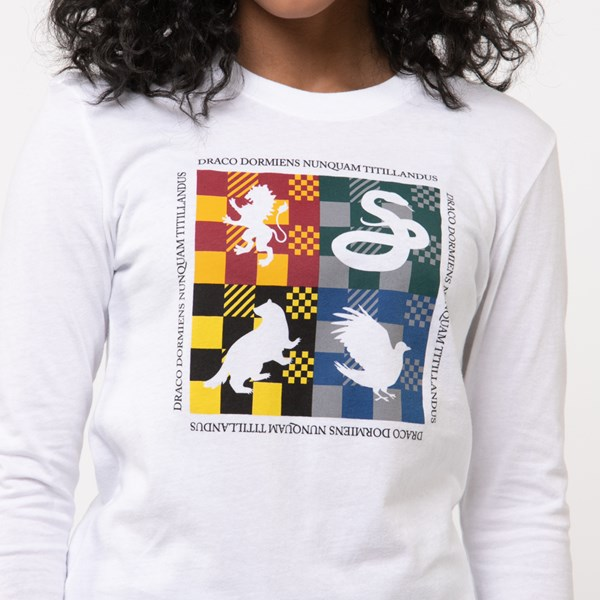 alternate view Womens Vans x Harry Potter Four Houses Long Sleeve Boyfriend Tee - WhiteALT4