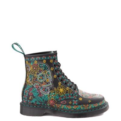 Main view of Dr. Martens 1460 8-Eye Day of the Dead Boot - Black / Multi