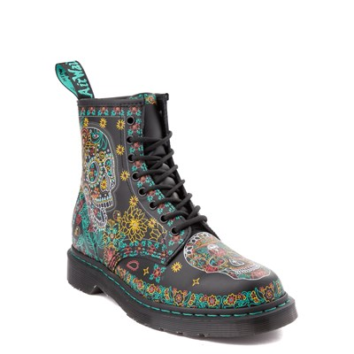 Alternate view of Dr. Martens 1460 8-Eye Day of the Dead Boot - Black / Multi