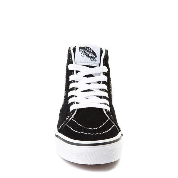 alternate view Vans Sk8 Hi BMX Checkerboard Skate Shoe - Little Kid / Big Kid - Black / LimeALT4