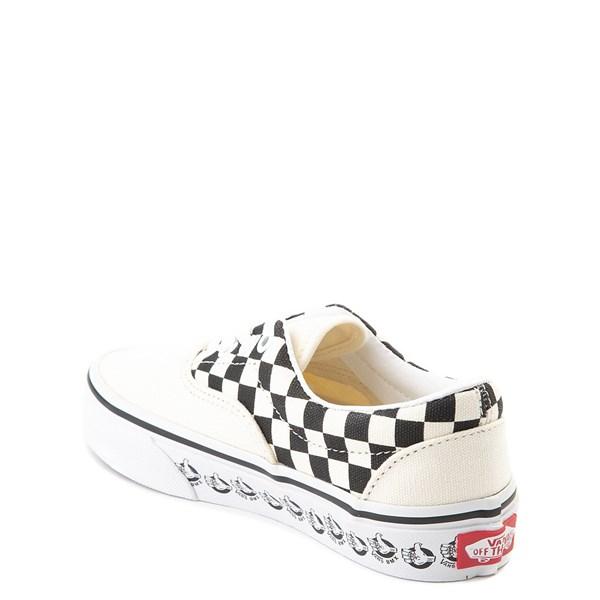 alternate view Vans Era BMX Checkerboard Skate Shoe - Little Kid / Big Kid - White / BlackALT2