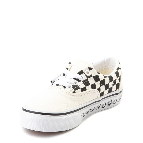 alternate view Vans Era BMX Checkerboard Skate Shoe - Little Kid / Big Kid - White / BlackALT3